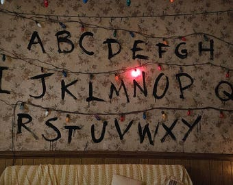 Joyce Wall-stamped pattern of stranger Things