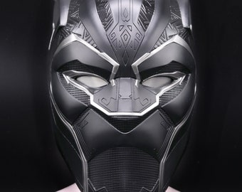 Black panther Inifinity war helmet 1:1 scale  fully pattern detail , paint from marvel movies Avengers for collectables or cosplays