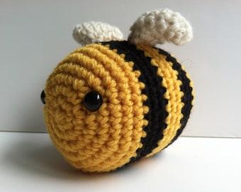 Plush Bumble Bee Toy Stuffed Animal Bee Gift For Teens Kawaii Bee Amigurumi Crochet Bee Gift Under 25 Nursery Decor Plushie Gift for Kids