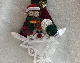 Santa Face with Yo Yo's and Owl (#032)