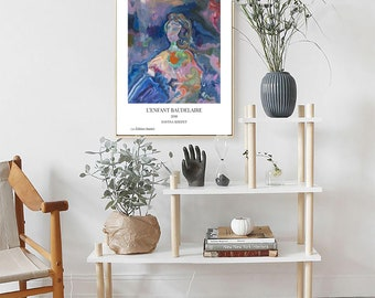 """A5, A4, A3 Limited edition signed art poster of modern art painting """"L'Enfant Mozart"""""""