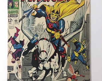 Avengers #48! First appearance of Black Knight! Marvel 1968