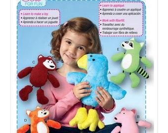 McCall's M7522 Woodland Animal Stuffed Toys Sewing Pattern / Uncut/FF