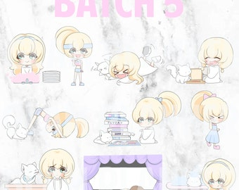 Batch 5 - Teeny and Bop 01 (Kawaii Planner Stickers)