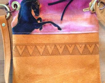 Wild West Leather Hemp Horse Purse