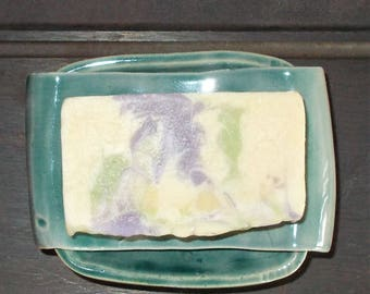"""New Re-Designed """" No Mess Two Piece Soap Dish"""""""