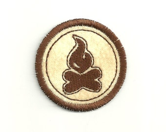 "2"" Campfire Merit Badge, Patch! Custom Made!"