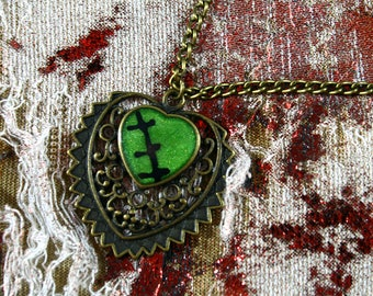 Monster pendant necklace