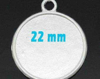 5 blank pendant tray (pr 22mm)