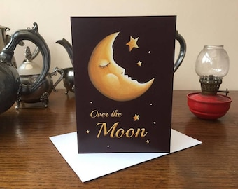Greeting Card - Over the Moon Magical