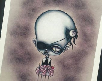 Zombie - limited edition giclee fine art print
