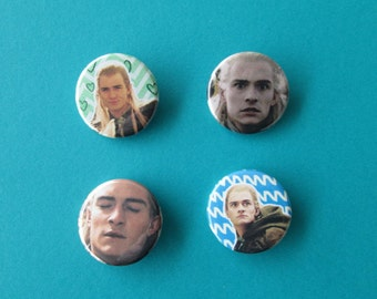 Lord of the Rings Legolas Pinback Buttons (or Magnets) - the Derp Editions