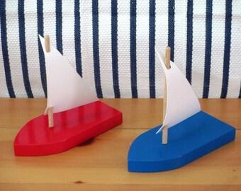 Wood Sail Boat and Catamaran