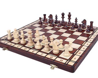 Classic wooden chess  set JOWISZ - Insert tray with heavy  chess pieces