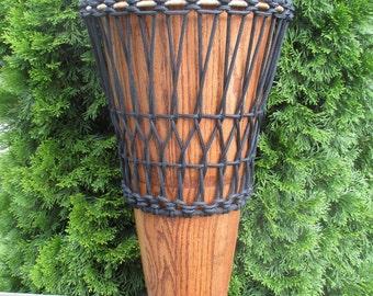 "Hand-made 11 1/2"" Red Oak Ashiko Drum"