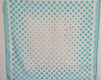 "Sheer Nylon Scarf  Polka Dots 24"" X 26""  #036"