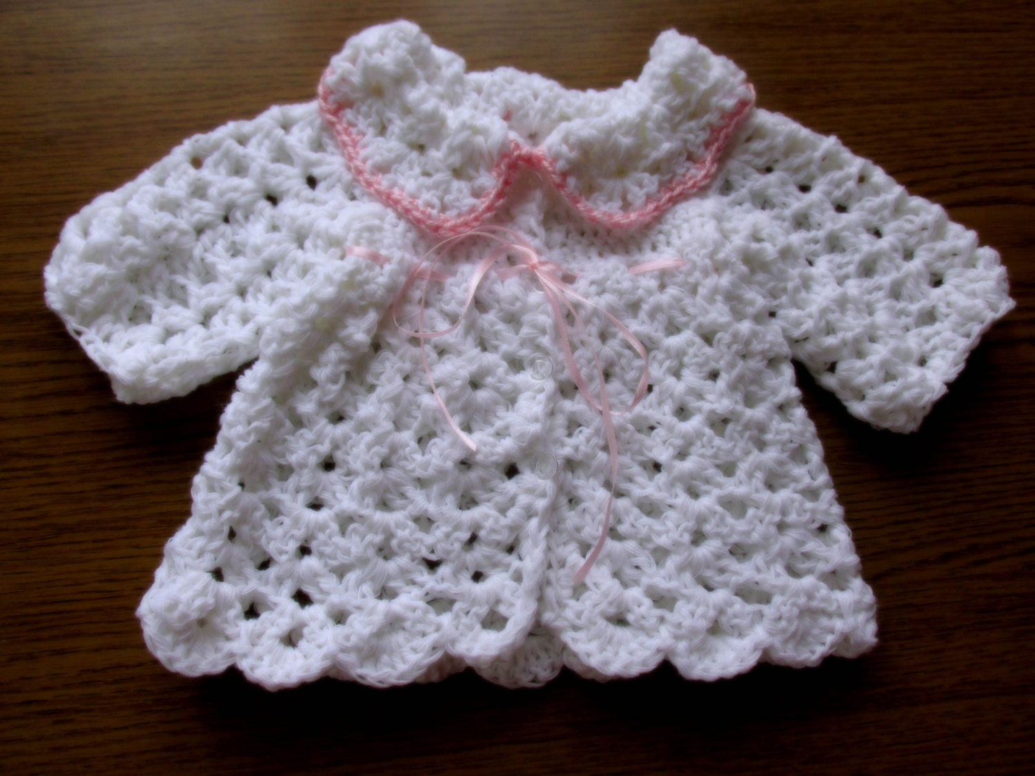 Crochet Baby Cardigan PATTERN in 5 sizes instant download, baby ...