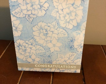 Set of 3 lovely hand made cards for Birthday and Congratulations, with envelopes