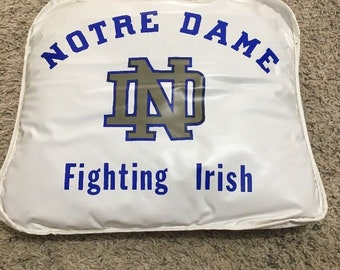 Vintage 1970s Notre Dame Fighting Irish Bleacher Seat Cushion in Great Condition