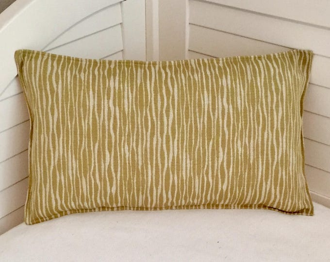 Akana in Lemongrass Designer Pillow Cover with Flange - Square, Euro, Sham, Lumbar and Body Pillow Cover
