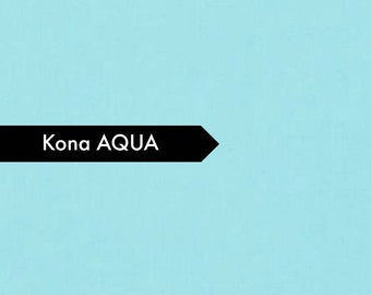 Kona Aqua - Fabric by the Yard - Quilt Fabric - Solid Aqua Fabric - Kona Aqua - Aqua Kona - Aqua Fabric - Robert Kaufman - Fat Quarter