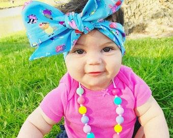 Peppa Pig Headwrap- Peppa Pig; Peppa Pig Headband; Peppa Pig Bow; Peppa Pig Bow Headband; Peppa Pig Big Bow; Toddler Headband; Toddler Bow