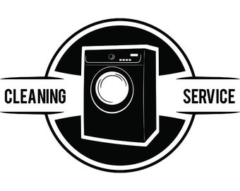 Cleaning Logo #18 Maid Service Housekeeper Housekeeping Clean Vacuum Mop Floor Laundry .SVG .EPS .PNG Clipart Vector Cricut Cutting Download