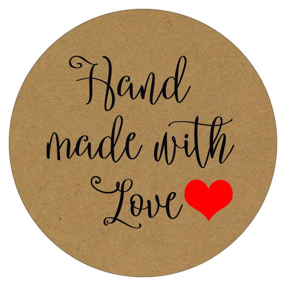 Hand made with love stickers hand made with love labels handmade stickers hand made labels hand made with love label