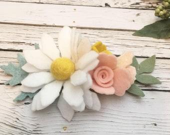 Daisy headband, Spring Headband, daisy headband, Birthday Crown, Daisy Crown, Felt Flower Headband , Floral Crown,  Flower Headband