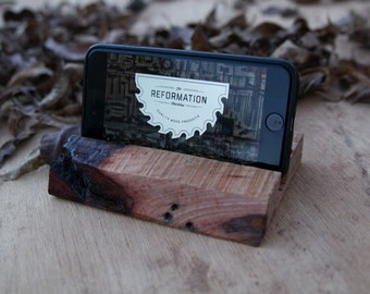 Live Edge Cell Phone Stand.