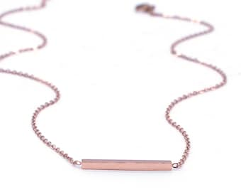 1 PC/Bulk Sale Stainless Steel Rose Gold Plated Necklace, Stick Necklace, Ready to Use