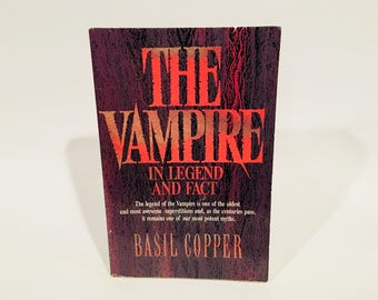 Vintage Non-Fiction Book The Vampire in Legend, Fact and Art by Basil Copper 1980s Softcover