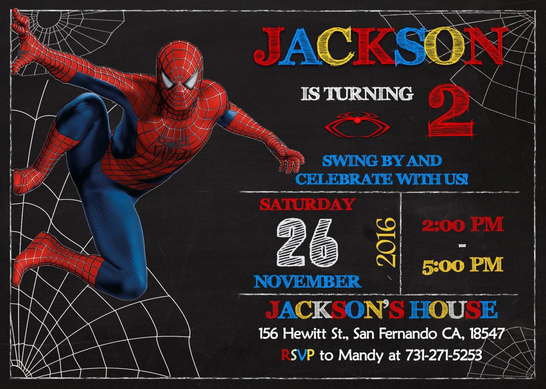 Spider Man Invitation Printable Spider Man Birthday Party