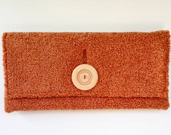 Cahoots Handbags Coral Oversized Clutch