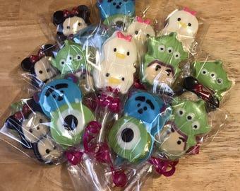 Tsum Tsum chocolate lollipops