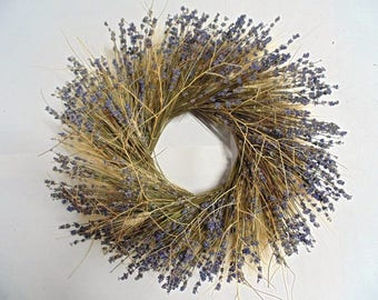 Wheat and Lavender Wreath | Lavender Wreath | Wheat Wreath |
