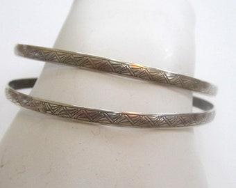 Circa 1930s Sterling Silver Bangle Bracelets