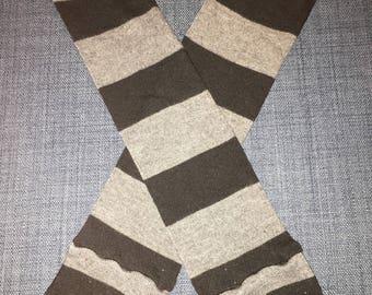 Black and Gray Leg Warmers