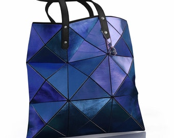 Womens leather Tote, Cobalt Blue Leather Bag, Leather purse, Leather Bag, Women Tote Bag, Metallic Leather Bag, Blue Tote, Blue Leather Tote