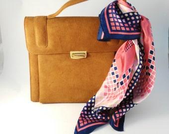 Tan Suede Handbag - Over Arm Handbag - Vintage Suede Bag - Large Suede Handbag - Statement Handbag - Mother's Day Gift - Gift for Women