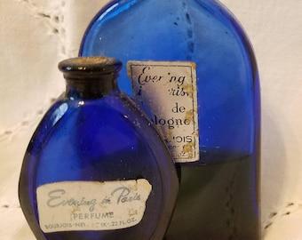 Pair of Vintage Evening in Paris Blue Perfume Bottles
