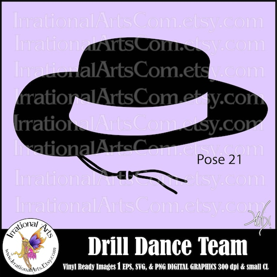 drill dance team silhouettes pose 21 hat 1 eps amp svg vinyl