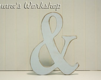 "12"" Ampersand  prop, Painted, Custom, Wooden Alphabet Letters, DIY, Engagement, Wedding Decor, Photography Props, Wedding,"