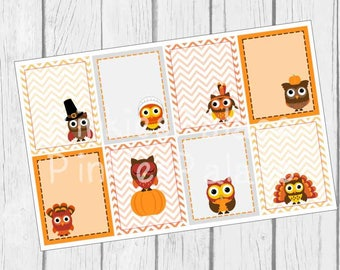 Thanksgiving Stickers Full Box Planner Stickers Erin Condren eclp PS212