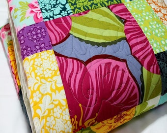 RESERVED FOR CHRIS  Bed Quilt queen/king size SUMMER SUNSHINE