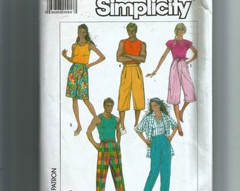 Simplicity Misses' and Men's Loose-Fitting Pull-On Baggies In Four Lengths Pattern 7959