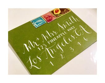 Lettering and Addressing Envelopes