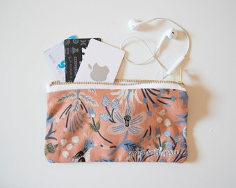 Peach Floral Pouch/Wallet