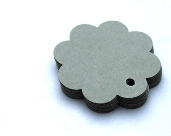 50 Sweet tags, label for gifts or price tag trailer  grey