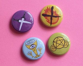 Tarot Button Set